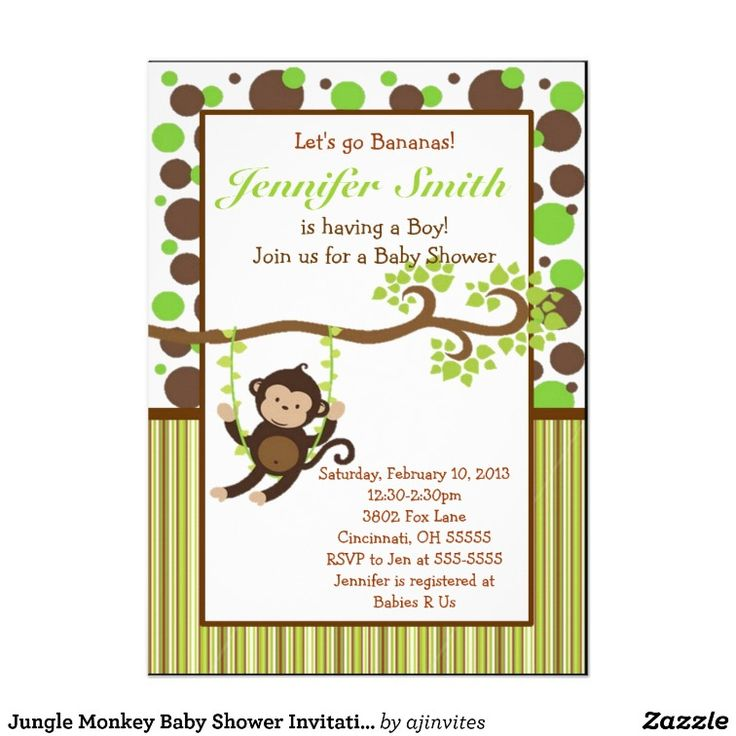 90 best images about monkey baby shower on pinterest | monkey, Baby shower invitations