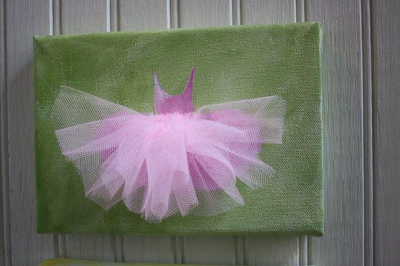 artwork ballerina painting with tulle tutu