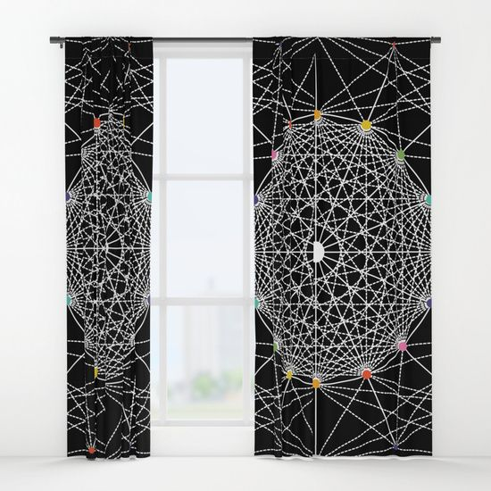 "Geometric Circle Black/White/Colour Curtains by Fimbis   ___________________________ #blackandwhite #monochrome #interiors #homedecor ___________________________  Your drapes don't have to be so drab. Our awesome Window Curtains transform a neglected essential into an awesome statement piece. They're crafted with 100% lightweight polyester, and thick enough to block out some light. Position the curtain rod into the 4"" pocket and you're good to go."