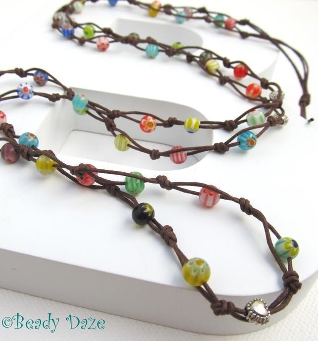 Surfin' Daze long boho surf necklace made to order