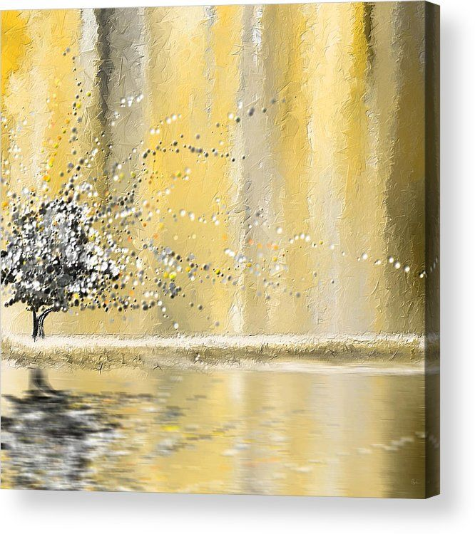 Reawakening Acrylic Print By Lourry Legarde In 2020 Grey Abstract Art Yellow Painting Abstract Canvas Painting