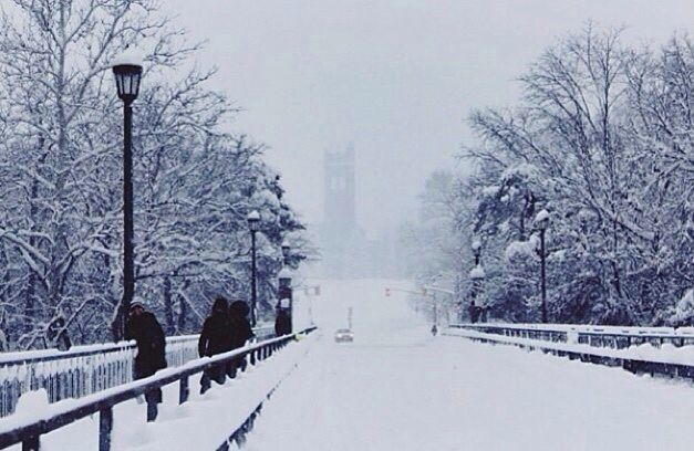 University of Western Ontario in the winter