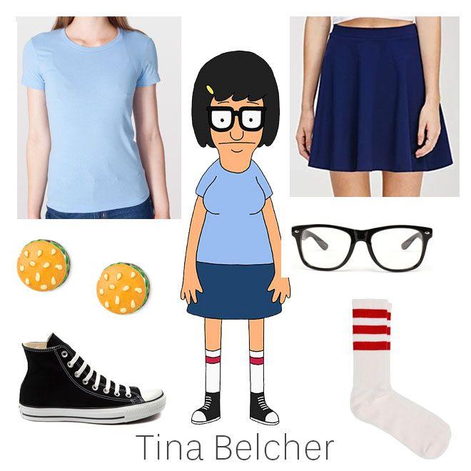 DIY Halloween Costume  #Tina #TinaBelcher #BobsBurgers #teen #blue #navy #skirt #nerd #glasses #hamburger #earrings #tubesocks   littleperfectdres... #fashionblog