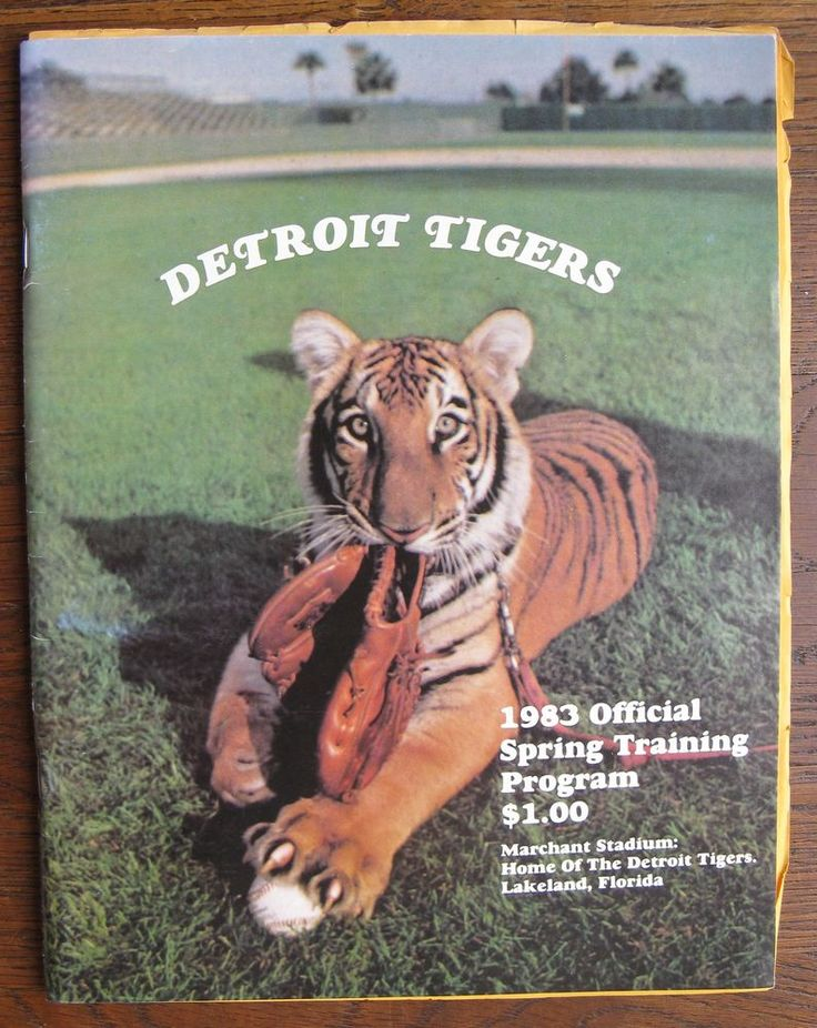 1983 Detroit Tigers Spring Training Programj, Marchant Stadium, Lakeland,Florida #DetroitTigers