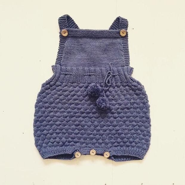 Baby knitting patterns: The Sailor Romper Suit by Sofie Bovbjerg, download on…
