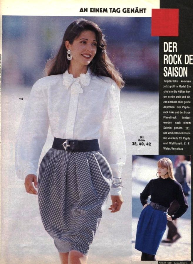 1988 burda moden 1988 pinterest - 80er damenmode ...