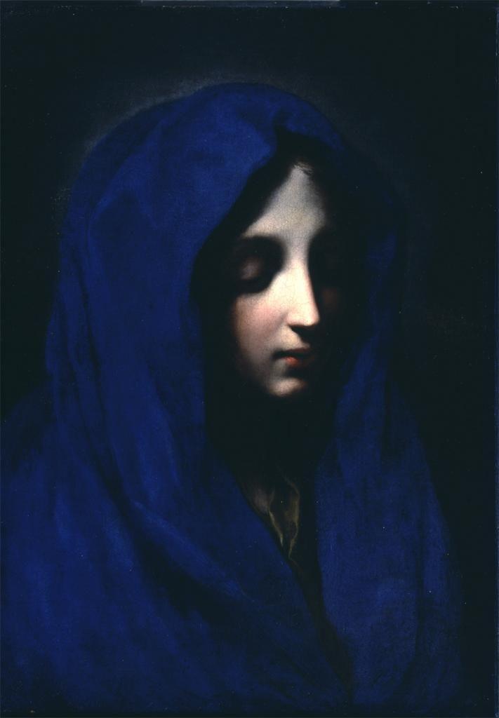 "thebigkelu: "" Carlo Dolci, The Blue Madonna, 17th century """