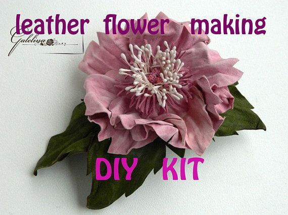 28 best how to make leather flowers images on pinterest for Leather flowers for crafts