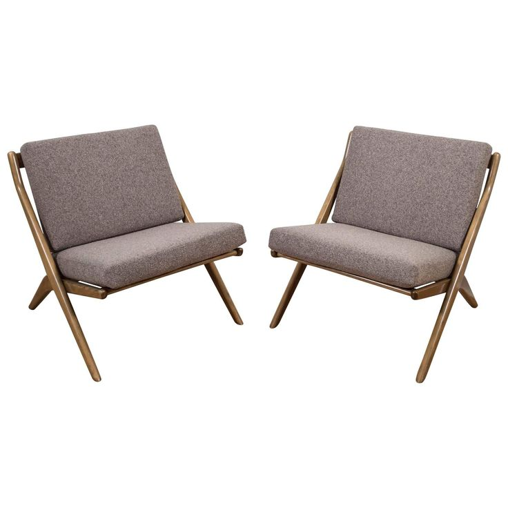 "Pair of Folke Ohlsson for DUX ""Scissor"" Lounge Chairs ***ON SALE 