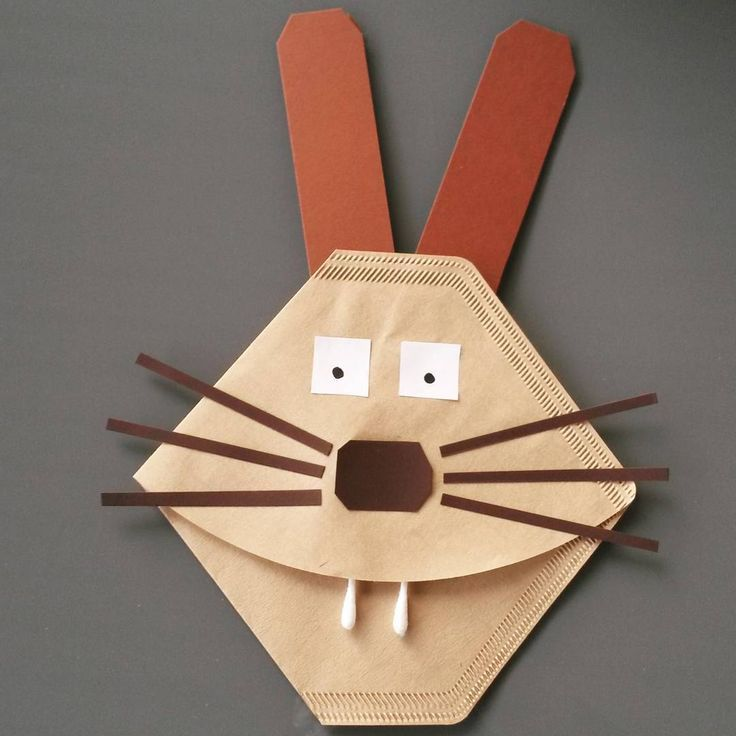 Have just tinkered for Easter for rehearsal. The rabbit I will do with my Erstis. I especially liked that I did not need a template for any part or create for the children. Therefore, the bunny also has a square nose and square eyes, but it is super light for the kids and it needs little help from me. Another advantage is the low-cost materials – 45 cents for 100 filter bags are unbeatable! #Basteln # crafting mitkindern