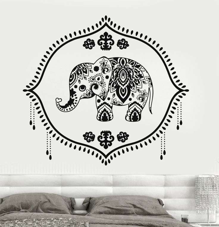 Vinyl Wall Decal Indian Baby Elephant Nursery Hinduism Hindu Stickers (723ig)