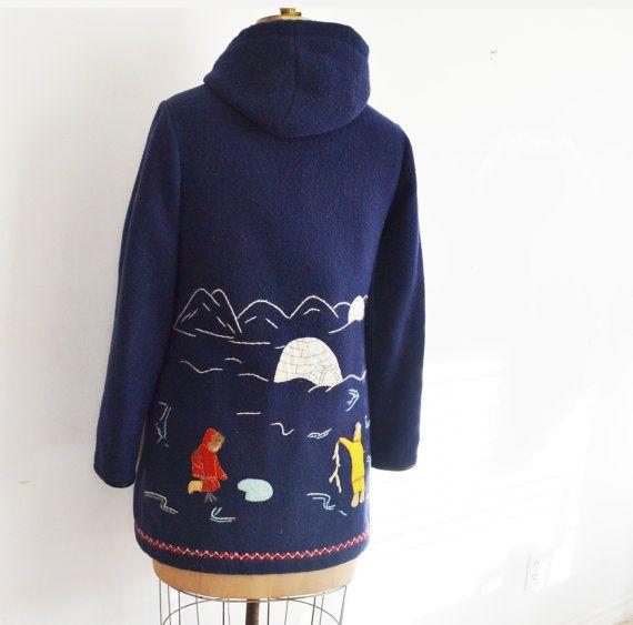 Eskimo parka / inuit wool coat / embroidered jacket by zaama
