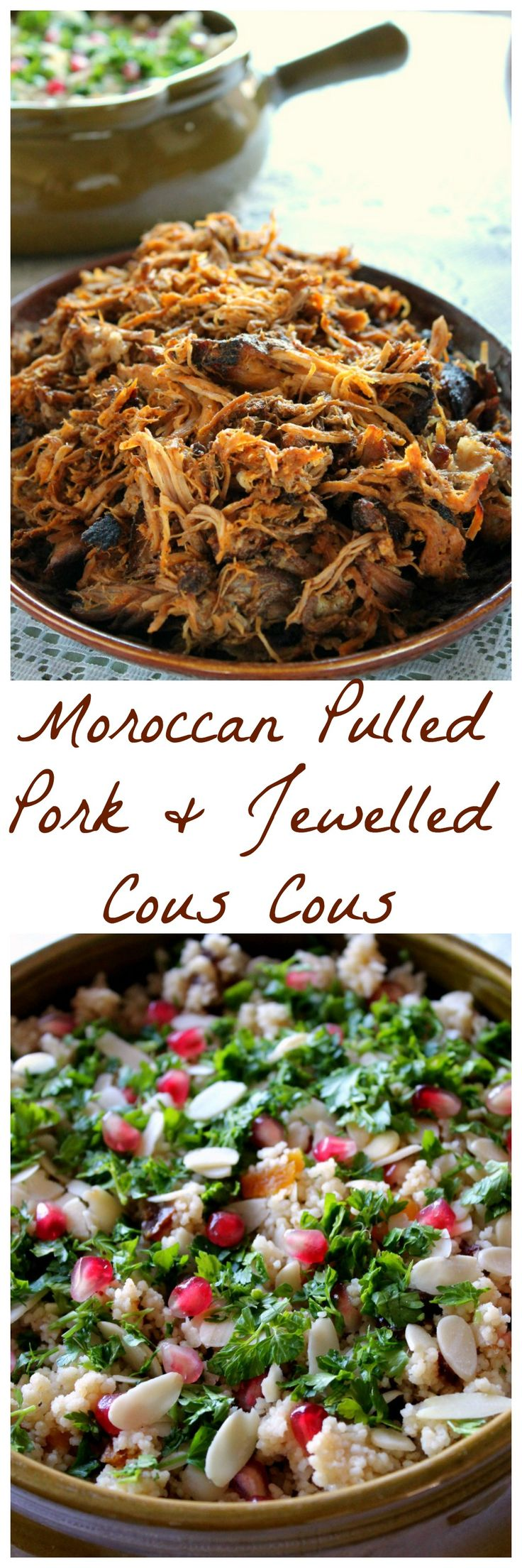 Moroccan pulled pork and jewelled cous cous