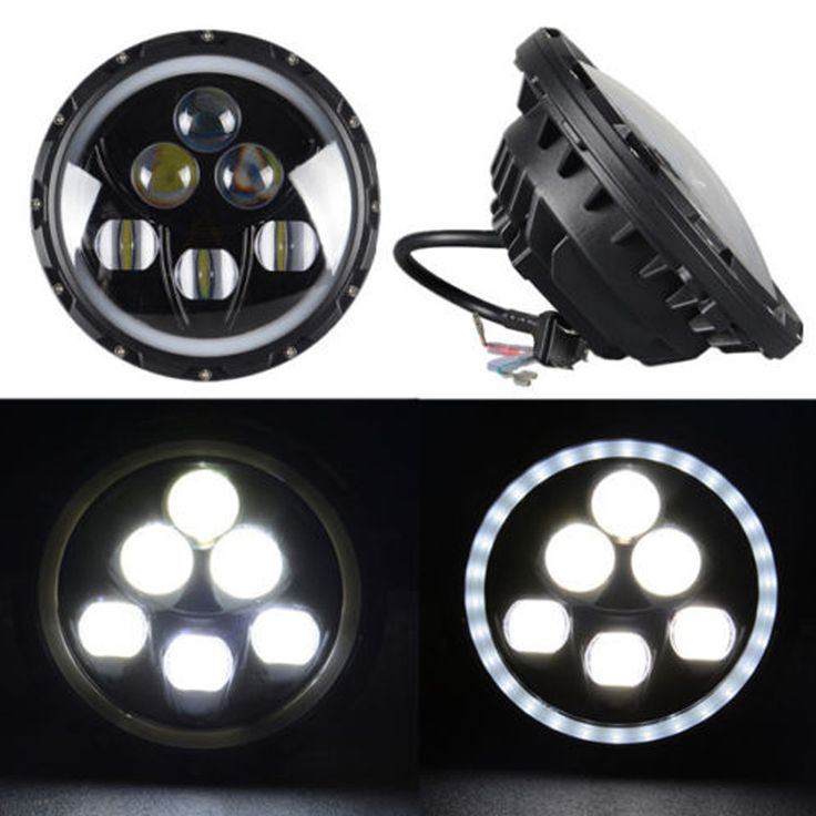 ==> [Free Shipping] Buy Best 60W Headlamp Used For Jeep Wrangler Car Headlight 7inch High Low Beam LED Work Light With Blue Color Angel Eyes Free Shipping Online with LOWEST Price | 32696611509