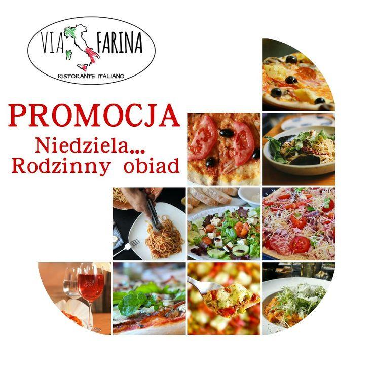 ☼ RODZINNY OBIAD ☼  Przypominamy o jednej z naszych aktualnych PROMOCJI!  Przygotowaliśmy ją z myślą o leniwych niedzielach :)  ☛ 2 MAKARONY lub 2 SAŁATKI + 2 PIZZE NEAPOL = 69 ZŁ! ☚  Sprawdź ile oszczędzasz ☛ http://www.viafarina.pl/ ☛  ZAPRASZAMY ☼  #restauracjawłoska #restauracja #Niepołomice #Kraków #Wieliczka #weekend #Pizza #Italia #menu #Obiad #Kolacja #kręgle #rodzina #pysznejedzenie #niedzelnyobiad #zaproszenie #tniemyceny #promocja #makaron #sałatka #neapol #oszczędności