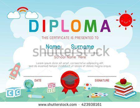 The 7 best diploma 1 images on Pinterest Kindergarten center signs