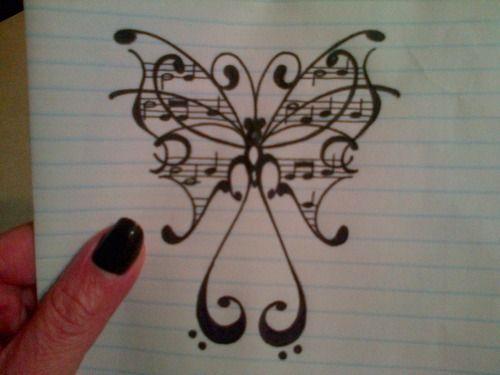 art # drawing # butterfly | tattoos | Pinterest | Tattoos, Music tattoos and Art