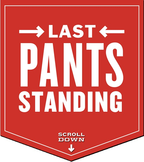 Last Pants Standing, outstanding UI for selling work pants. Duluth Trading Co