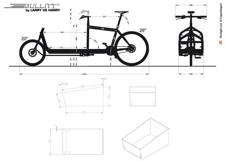 Technical Info for Bullitt Cargo bike frames.