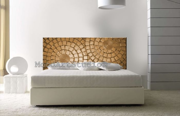 Cabecero de cama original pintado a mano de moodartstudio cabeceros de cama originales - Cabeceros cama originales ...