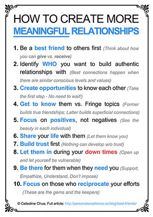 """In addition to the great list pictured, clicking this link will take you to an awesome article, """"How To Have More Best Friends in Life: The Heartfelt Guide"""""""