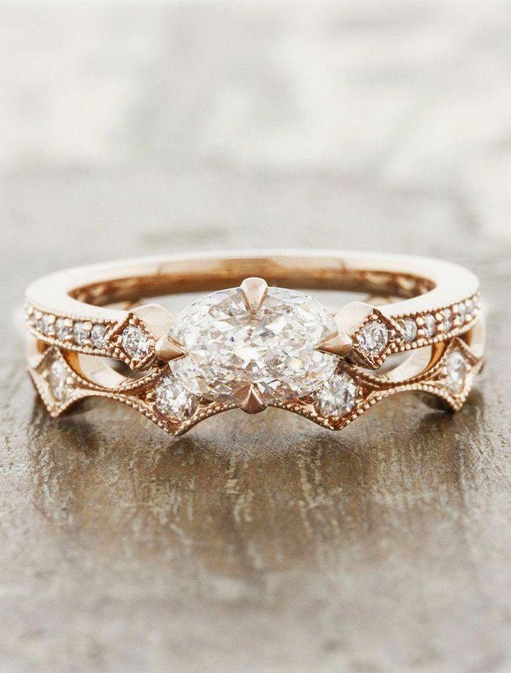 Zuzel es el compañero perfecto hecho en oro rosa de 14k. Ella rezuma estilo vintage …   – Ringe