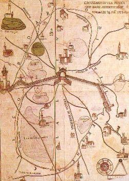 Il serraglio e Valeggio in una mappa mantovana del XVIII sec