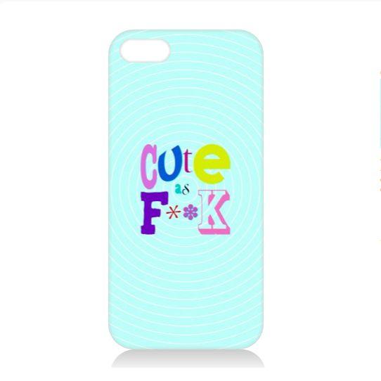 Cute As phone case   #fimbis #ArtRookie #cute #type #typography #style #styleblog #fashion #fashionblogger #fashionblog #styleblogger #cuteasfuck #pastel #pastels #iphone5s #iphone5c #iphone6 #ukdesign #irishdesign #irishart #fblogger #iphone6 #iphone6plus #fashiontech #purple #pink