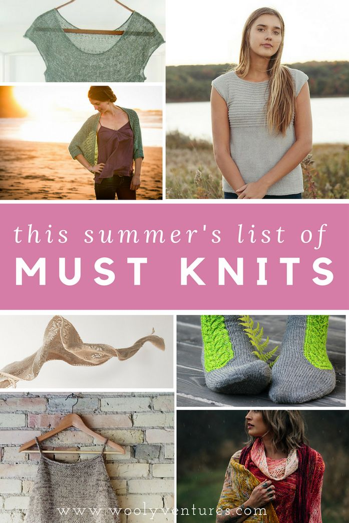 Looking for that perfect light and airy summer knitting pattern? This list includes 3 free gorgeous knit tee patterns, as well as other fun and easy patterns for summer. What patter will you be knitting up?