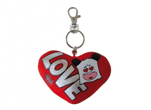 """HELLO SPANK CUSCINO CUORE PORTACHIAVI 8CM LOVE  Mini cuscino porta chiave Hello Spank love morbidone a forma di cuore con la scritta """"LOVE"""""""