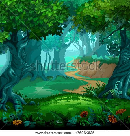 stock-vector-forest-of-magic-moving-trees-cartoon-vector-close-up-illustration-476964625.jpg (450×470)