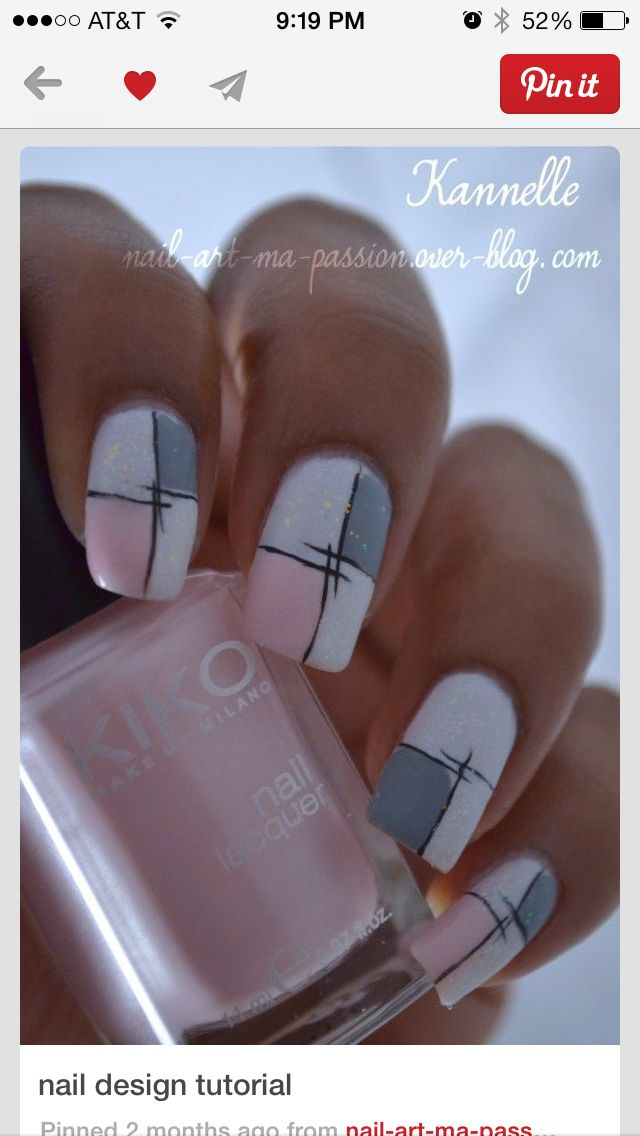 Best 25 pink grey nails ideas on pinterest matt nails lady pink grey nail art prinsesfo Image collections