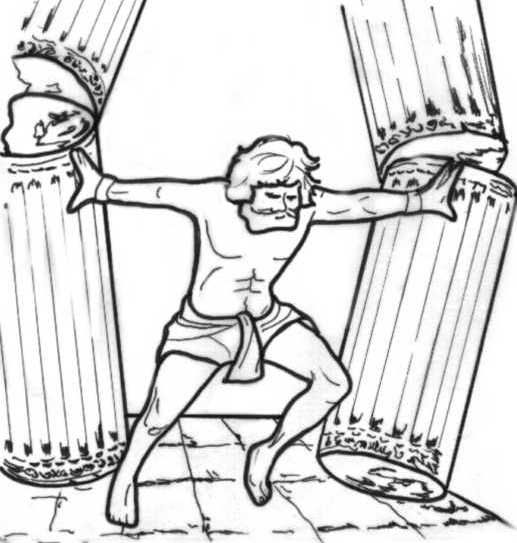 samson coloring pages for preschoolers | samson | Bible - Coloring Pages | Pinterest