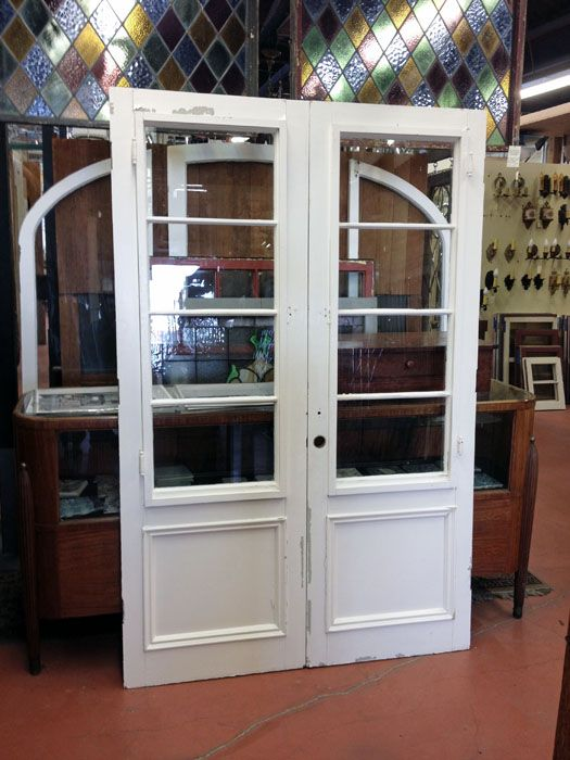 Santa Barbara Style French Doorset Found At Pasadena Architectural Salvage.  $550