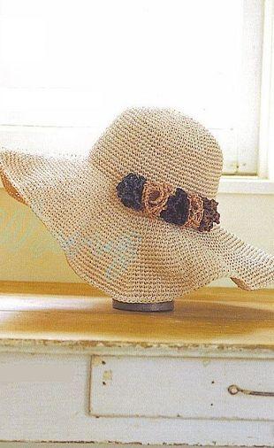 Схема шляпы крючком