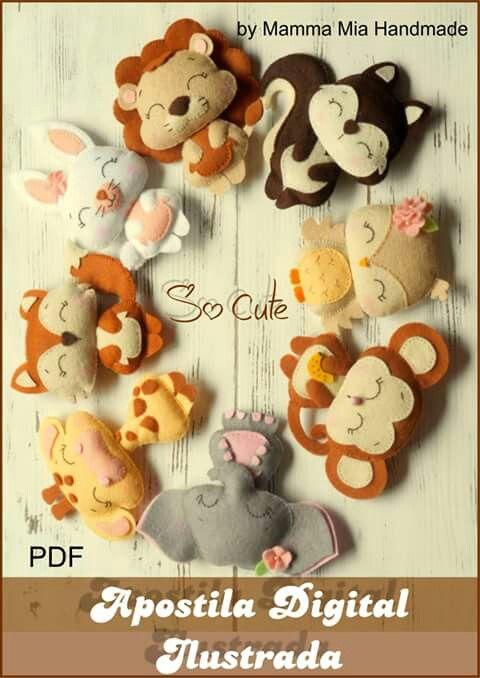 Various Felt Animals