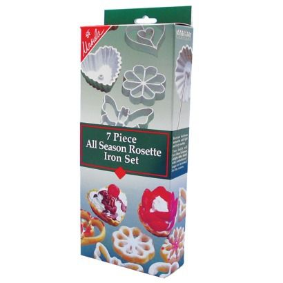 Ursula All-Season Rosette Iron 7-pc. Set: Iron 7Pc, Rosette Irons, Allseason Rosette, Gift Idea S, All Season Rosette, Iron 7 45 Pc 46, All 45 Season Rosette, Edible Gifts
