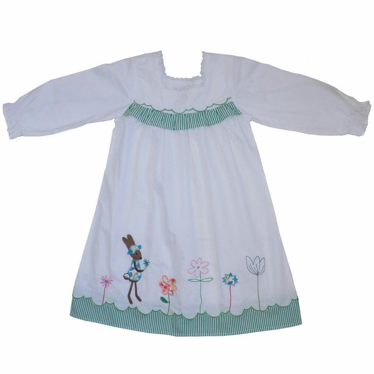 Powell Craft girls Maggie Nightdress - 100% cotton- rabbit design