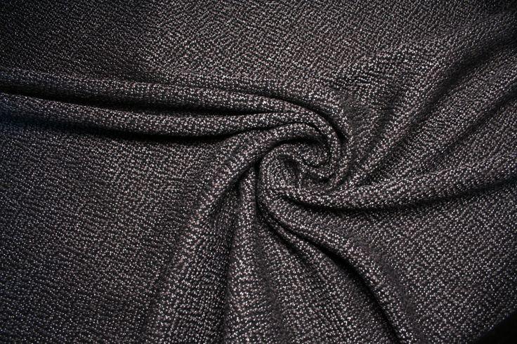 Tessuto pesante di cotone, realizzato con filato ritorto nero e grigio in trame . di UMEfabrics su Etsy