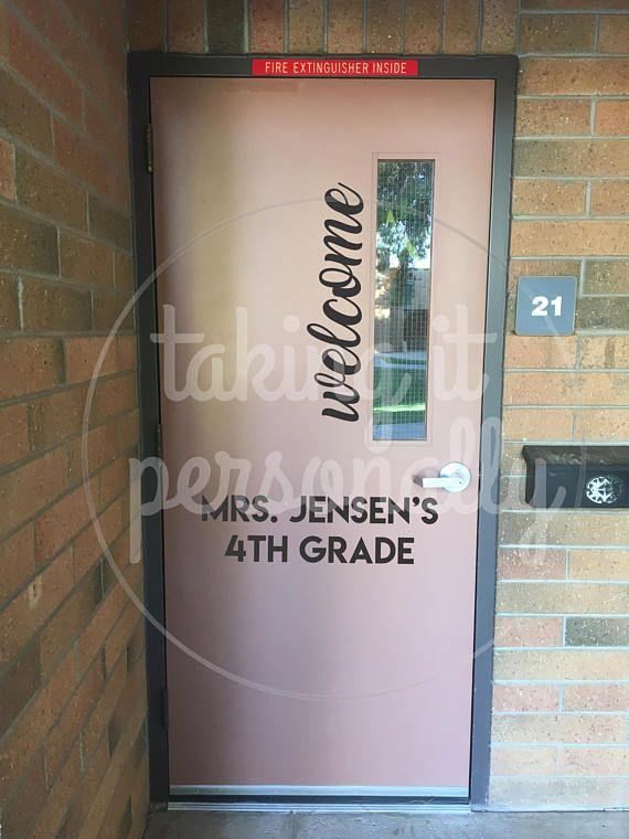 Classroom Door Welcome Vinyl & Best 25+ Welcome door classroom ideas on Pinterest | Classroom ... Pezcame.Com