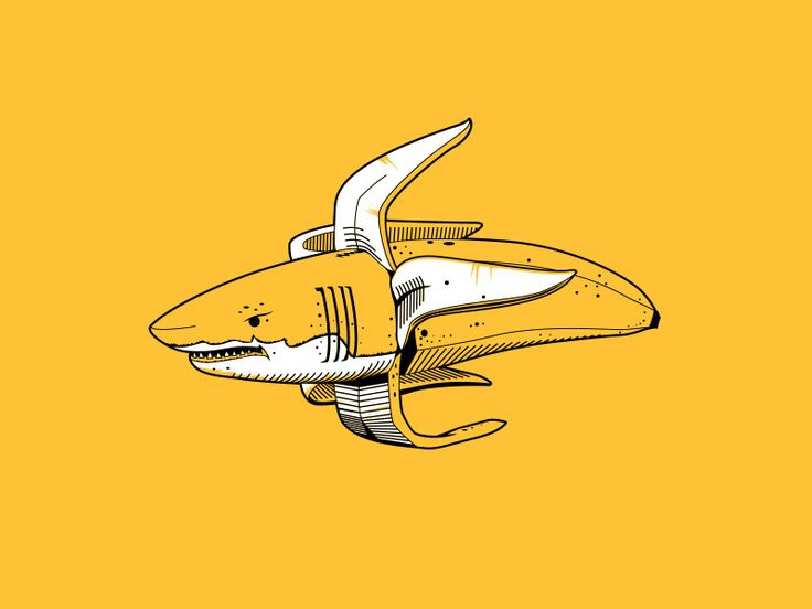 does this read like both a shark and a banana?   ... such a weird concept...