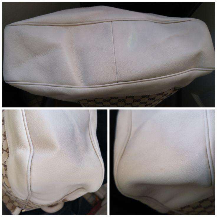 """GUCCI-GUCCI Monogram Diana Medium Bamboo Shoulder Bag Ivory,L: 14.5"""", H: 12.5"""",D:3.75"""""""