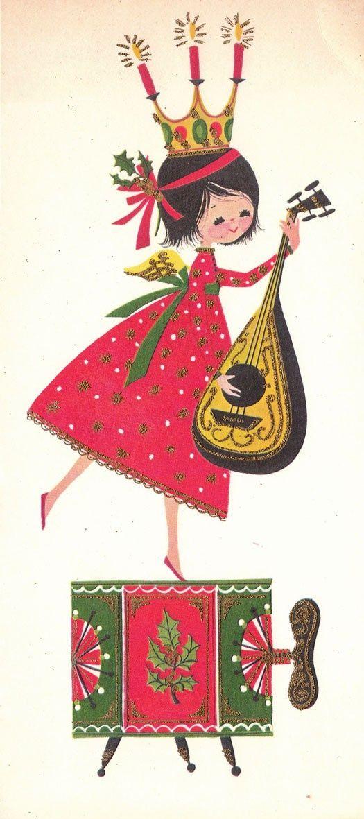 Vintage 1970s Christmas Greeting #Christmas Decor  http://christmasdecorstyles.blogspot.com