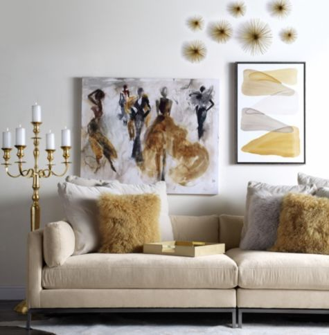 Ventura Extra Deep Sofa 2 Pc Gold Living Room Chic