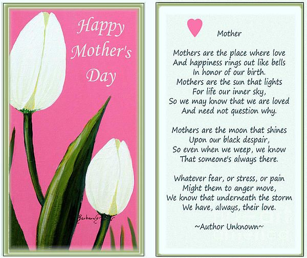 Happy mothers day by Barbara Griffin