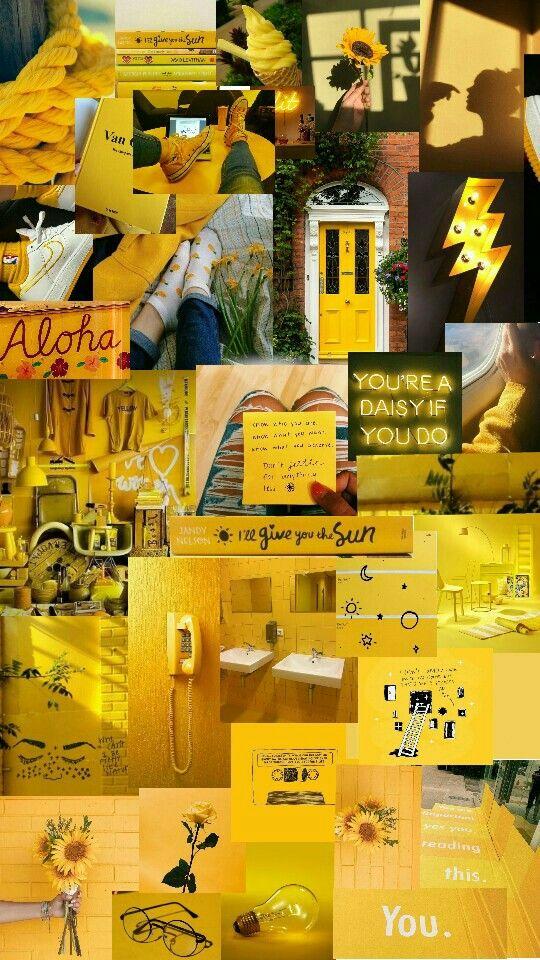 Aesthetic yellow moodboard aesthetics aestheticyellow