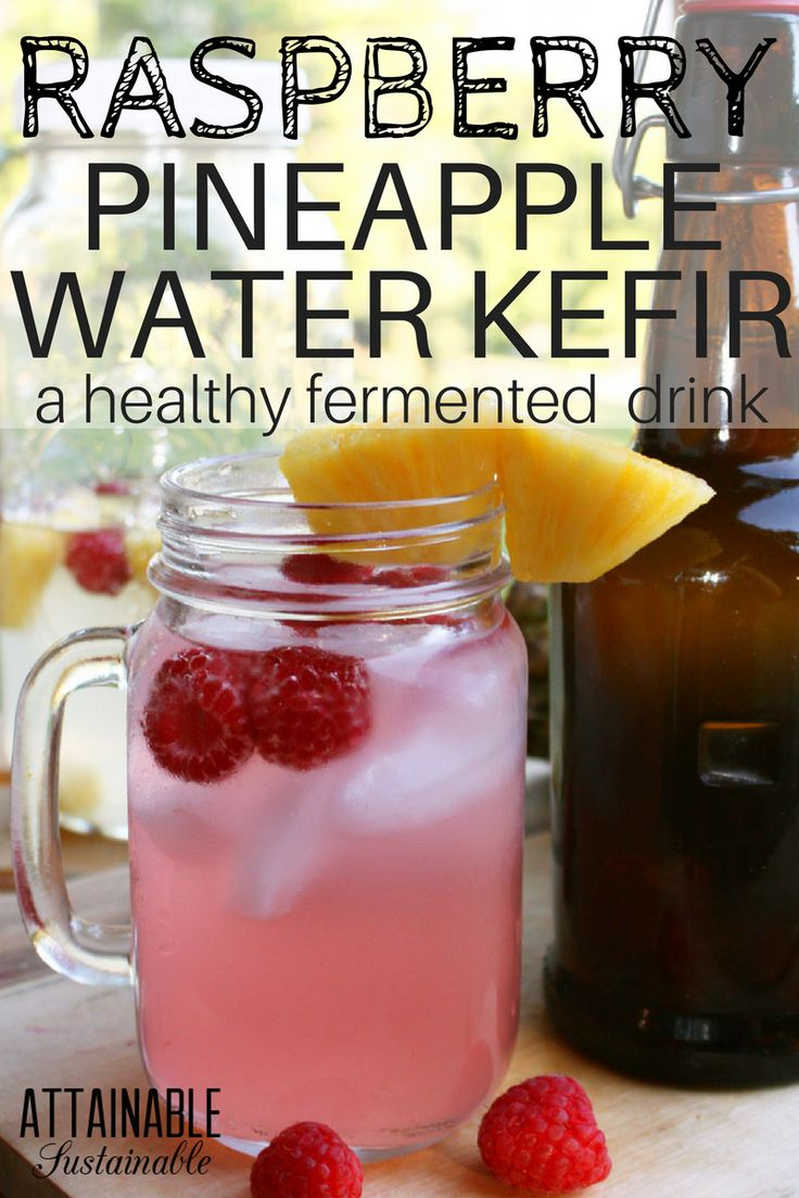 This raspberry pineapple water kefir is refreshingly sweet drink yet very low in sugar. It's a healthy alternative to soda, perfect for a warm summer afternoon. Cheers!