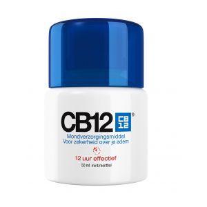 CB12 Mondspoeling Regular Mini 50 ml  Description: CB12 mondwater mini CB12 is een vloeibaar mondverzorgingsmiddel dat de oorzaak van slechte adem bij de bron aanpakt. Wil je altijd en overal zeker zijn van je adem dan is een CB12 mini verpakking wel zo handig. Deze neem je gemakkelijk mee in je handtas toilettas en in je koffer.  Price: 3.95  Meer informatie