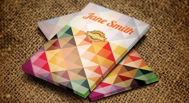 Polygonal Business Card Template