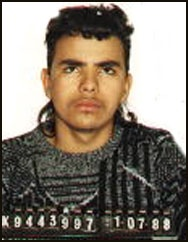 "Los Angeles/Hollywood detectives 213-972-2910.  Fausto Adalberto Campos  5'6"" 150# black hair/brown eyes.  DOE 11/20/1969, age 28  Weapon:  Handgun  DR#:88-0620439  Wanted for murder.  Warning:  This individual is considered armed and dangerous.  Do not attempt to apprehend suspect yourself.  If seen, contact your local police station ASAP.  5/2012"